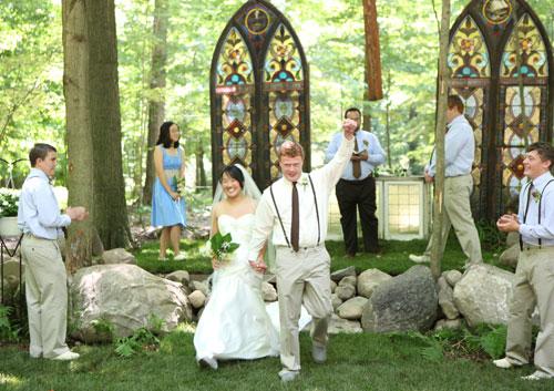 Wedding fist pump - photo by Jenn Marie Photography