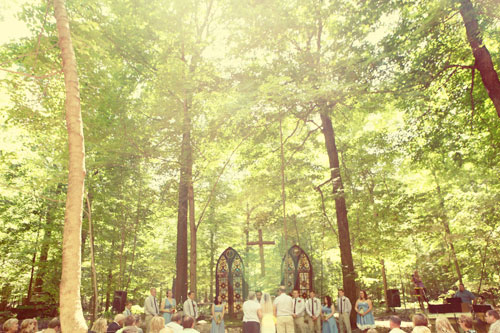 Outdoor wedding cathedral - photo by Jenn Marie Photography