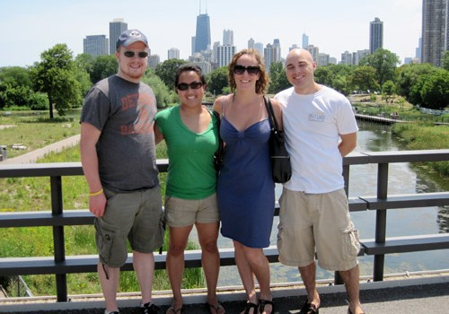 Visiting Leah's cousin in Chicago