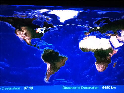 In-flight GPS