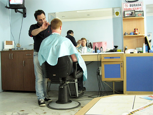 David's First Haircut in Turkey