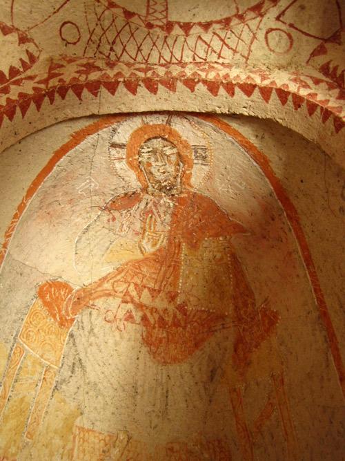 Frescos in Cappadocia Caves