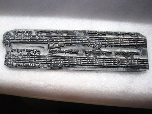 Turkish Sheet Music Printing Plate