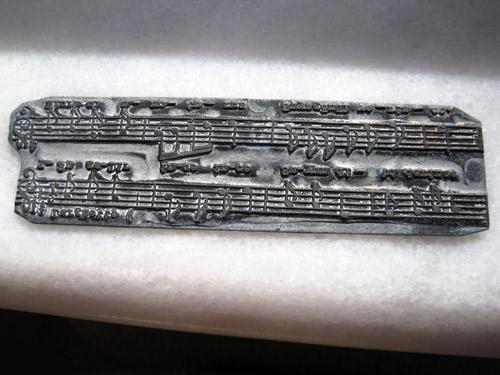 Turkish Sheet Music Printing Plate