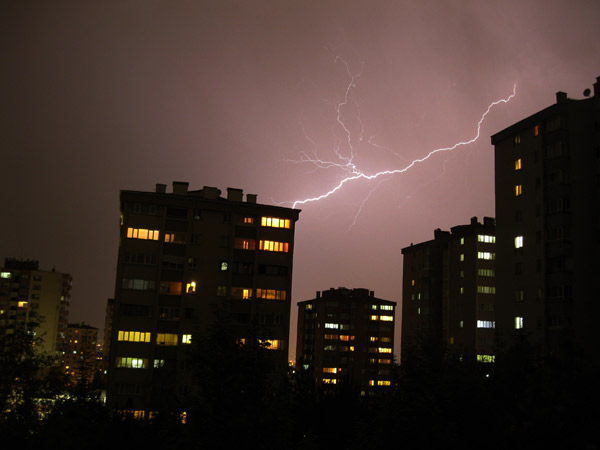 Lightning storm in Ankara