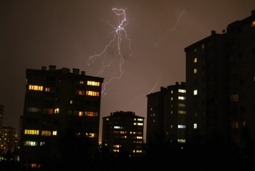 Lightening storm in Ankara, Turkey