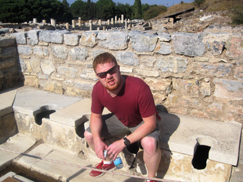 On the ancient toilets in Ephesus