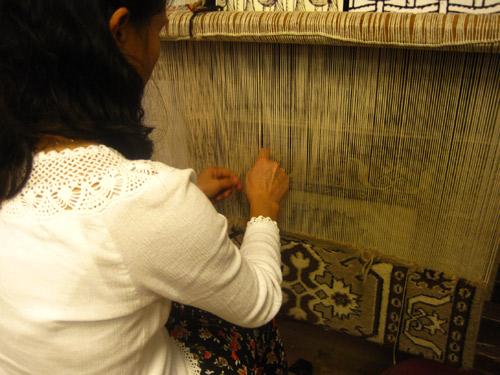 Turkish rug weaving
