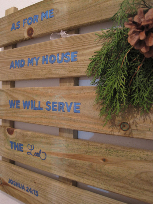 As for me and my house, we will serve the Lord.