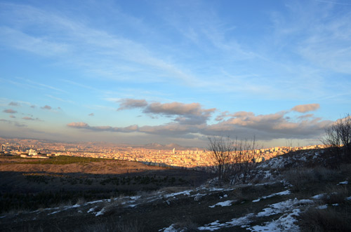 View of Ankara from the METU forest