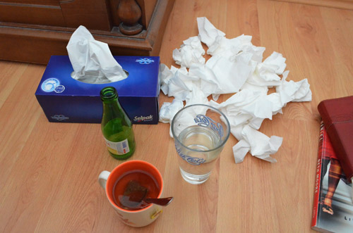 Lots of tissues and liquids!