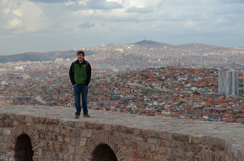 At the Ulus Castle in Ankara