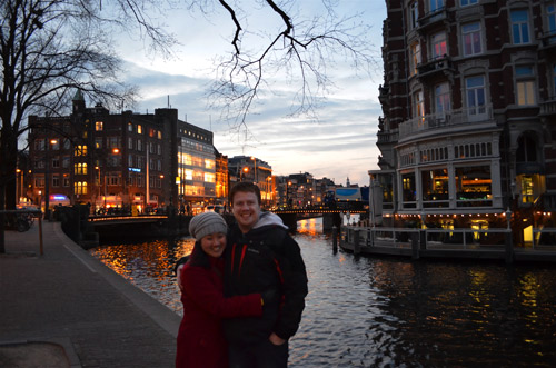 Photo of David and Leah in Amsterdam, Netherlands