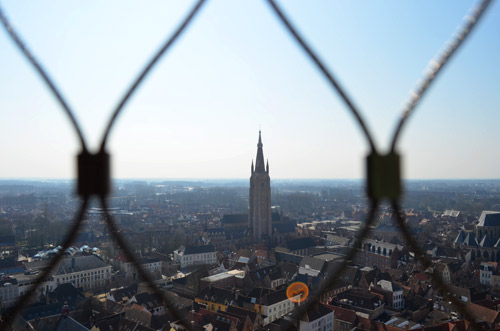 View of the city from the Bruges Bell Tower