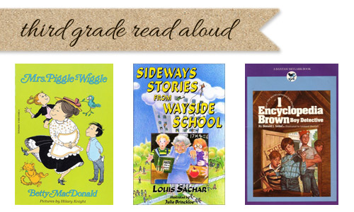 Third grade read aloud list