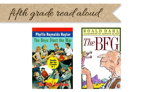 Fifth grade read aloud list