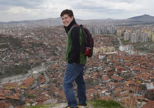 Daniel overlooking Ankara