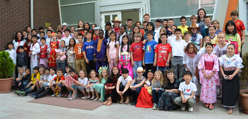 Upper elementary on international day