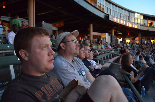 At a Lansing Lugnuts baseball game