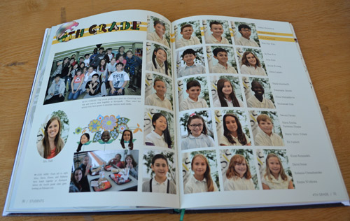 Yearbook mugshot page