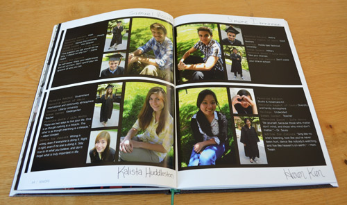 Yearbook senior spreads