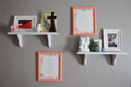 Nursery wall with prayers