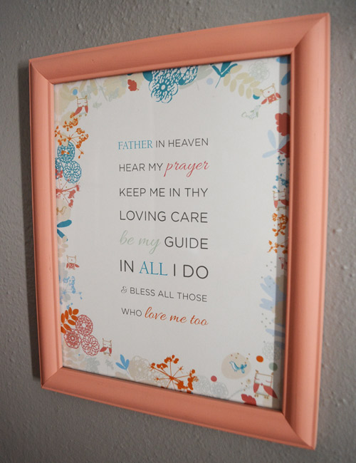 Prayer design in nursery