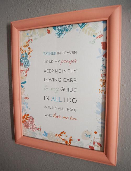 Prayer design in nursery