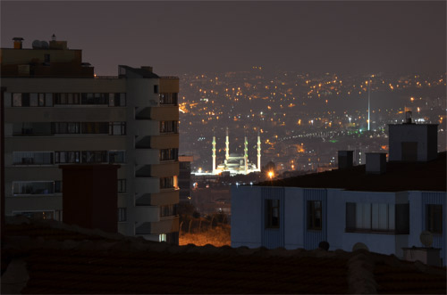 Kocatepe Mosque at night