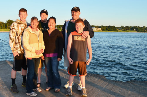 Family on the pier