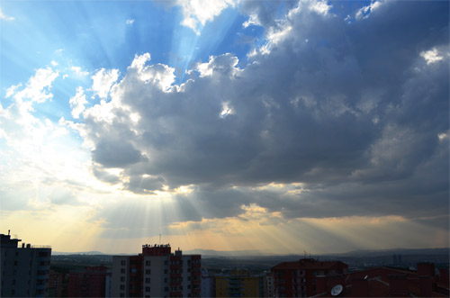Sunrays in Ankara
