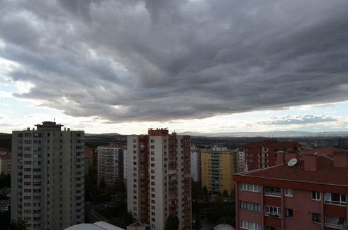 Ankara rain clouds
