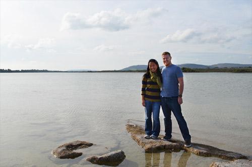 Exploring an Ireland lake