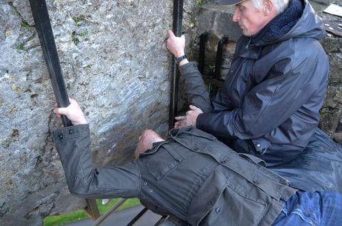 David kissing the Blarney Stone
