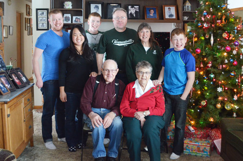 Family Christmas photo