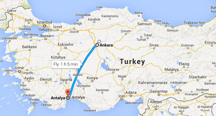 Ankara to Antalya