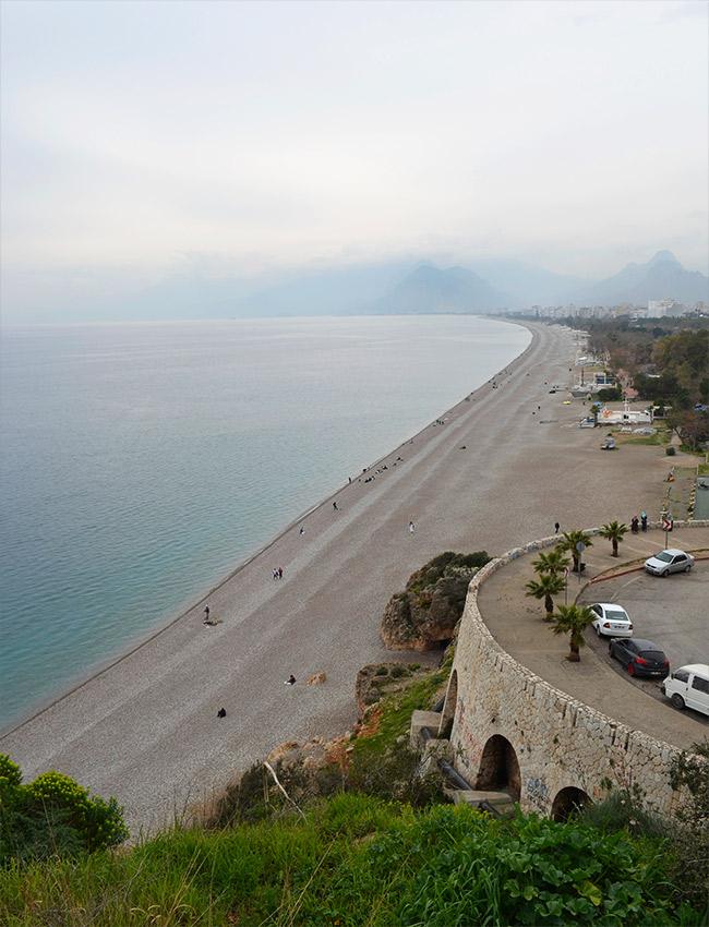 Antalya beach and mountains