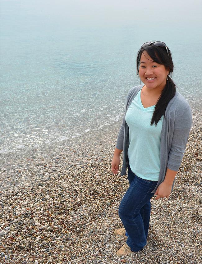 Leah on the Antalya beach