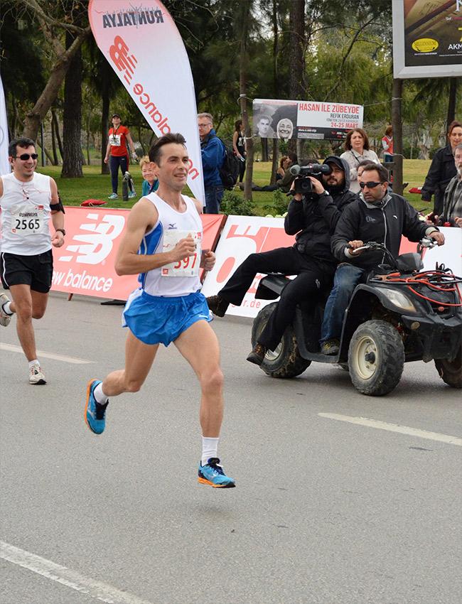 The marathon winner