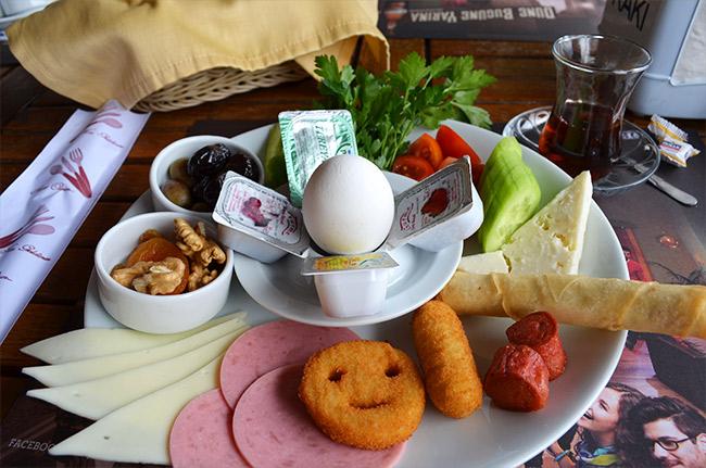 Turkish breakfast in Antalya