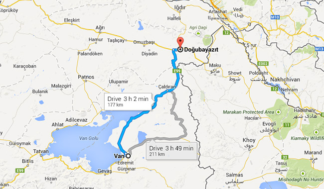 Van to Dogubayazit