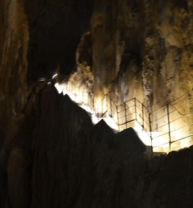 Inside Škocjan Caves Park