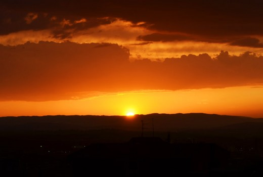 Ankara orange sunset