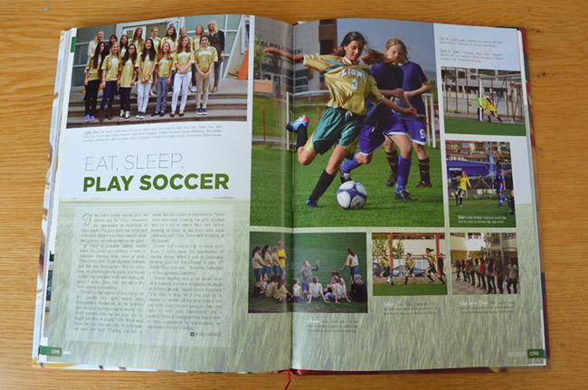 Soccer spread