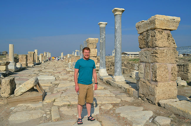 David on the street in Laodicea