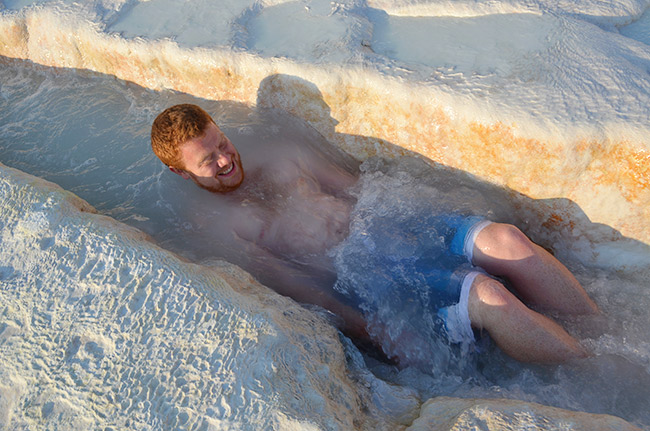 David in the mineral water