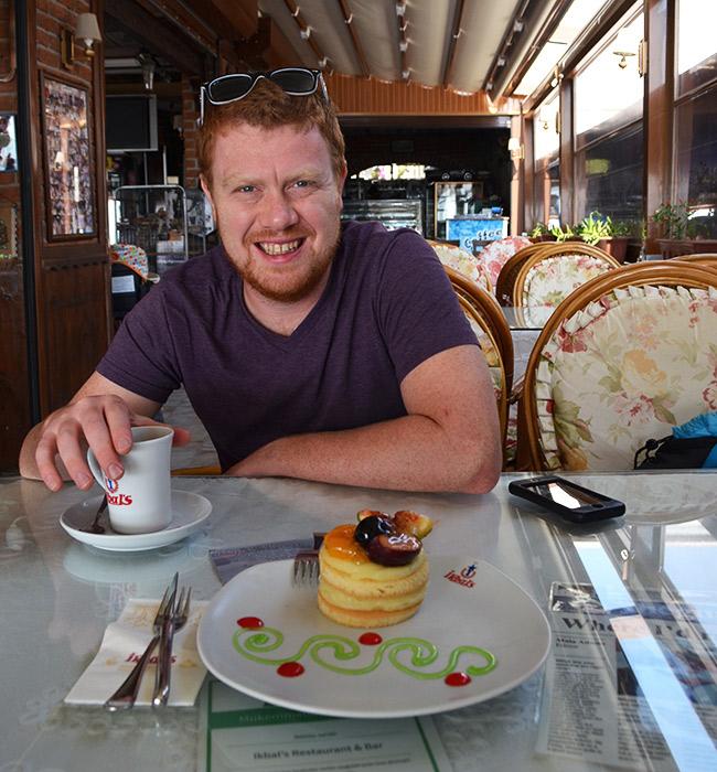 David eating at Ikbal