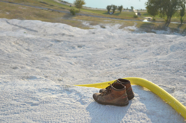 Lonely shoes at Pamukkale