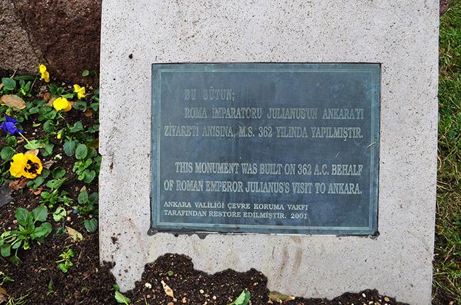 Julianus Column plaque