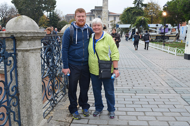 David and Mom near the Egyptian obelisk